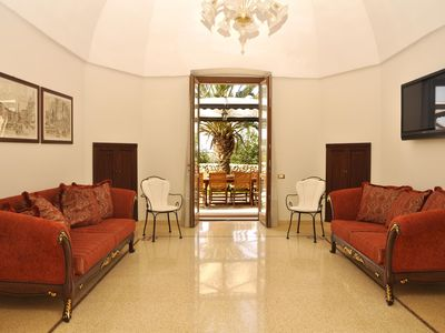Photo for Spacious Villa Nucci apartment in Nardò with WiFi, air conditioning, private terrace & private gard…