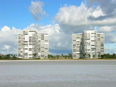 South Seas West - towers 1 and 2 - taken from the beach