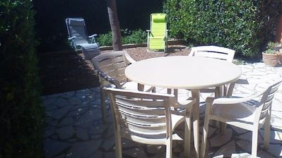 Photo for APPART 45m2 IN GARDEN LEVEL 40 m2, WIFI, PLANCHA ,, 3 'OF THE BEACH OF ROQUILLE