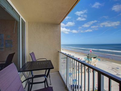 Photo for Budget Friendly Getaway for 4! Direct Ocean Front View from 5th Floor, Community Pool, Free HBO/WiFi