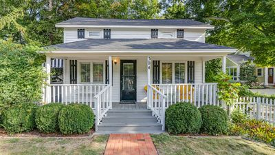 Cozy Hideaway is a quaint two-bedroom in downtown Saugatuck.