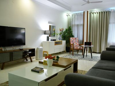 Photo for ★Central TerraceGarden★ Luxurius&Modern 3bedroom Apartment in ♡ of SouthDelhi