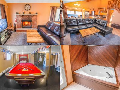 Photo for Gameroom, Pool Table, Jacuzzi, Fireplace, Free Horseback Riding, Skiing, Firepit