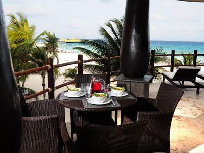 Photo for Winner of Top 25 in Luxury in All of Mexico - Direct Ocean View-3/3 Beach Club Promo #4