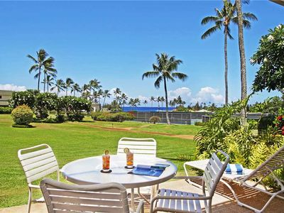 """Photo for Poipu Vacation Rental Lush Garden Breathtaking Sunsets """"A/C Master & Guest Bedroom"""" *Kahala 311*"""