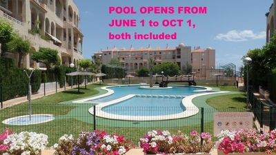 Pool open from june 1 to oct 1