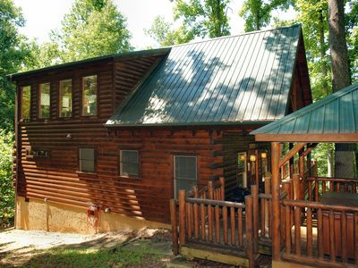 Photo for Secluded Smoky Mountain Log Cabin Rental Between Pigeon Forge and Gatlinburg