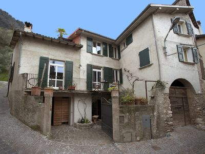 Photo for Lovely restored village house over Bogliaco Gargnano – very spacious