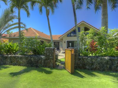Photo for Family-friendly home on lush greenbelt, full A/C, steps from great Poipu beaches