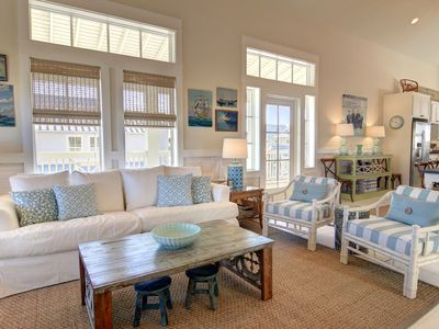 Photo for Charming beach home with wrap around deck and comfortable porch furniture!