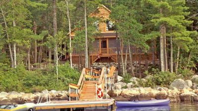 Photo for Lakeside Log Cabin on Tunk Lake in DownEast Main