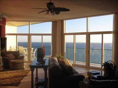 Gulf View from Kitchen and Wet Bar Area