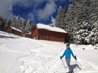 Photo for Mountain cabin directly at skiing slope for 12 persons