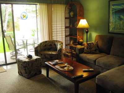 Relax in our recently remodeled condo,all new furniture in living room and lanai