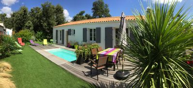 Photo for House with pool in Vert Bois 5 minutes from the beach by bike