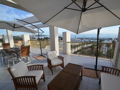 Photo for Atico Miramar:Terrace with panoramic views to the beach,3 bedrooms, wifi,AC & garage included-Salou
