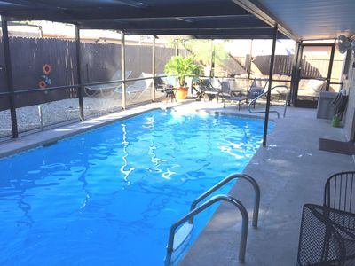 Photo for Private Haven with Pool / Minutes from the Gulf  / 3 Bed / 2 Bath / Sleeps 8