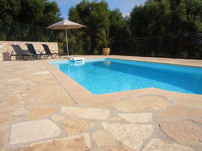 Photo for Lovingly Restored Villa with Views across the Ionian Sea with Stunning Sunsets