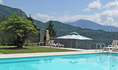 Photo for Apartment with pool in a quiet location - Holiday with dog on Lake Garda