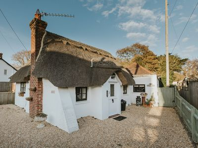 Photo for Charming detached thatched cottage for two ideally located for coast and forest