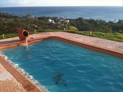 Custom built new SALTWATER  pool with a view of Tres Palmas , surf, sunsets