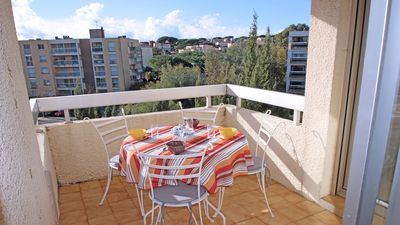 Photo for Apartment T3 - 4/5 people - WiFi - Air conditioning - Downtown - Sainte Maxime