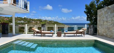 Villa Bellevue -  Ocean View - Located in  Beautiful Marigot with Private Pool