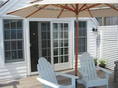 Enjoy coffee or cocktails on your private deck