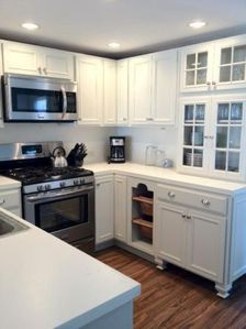 The newly renovated open concept kitchen.