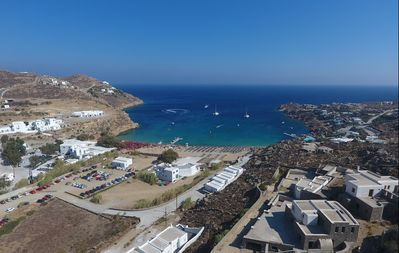 Photo for OPEN THE WINDOW AND YOU ARE JUST STEPS AWAY FROM THE BEACH. Private Villa Analiti Mykonos
