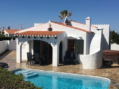 Photo for 3 Bed Villa With Private Pool,Hot Tub,Pool Slide,Air-Con, UK SkyTV & FREE WI-FI!