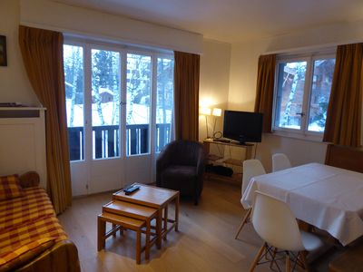 Photo for Apartment in a chalet in the center of Crans from Jack Niclaus golf course