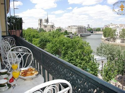 Photo for Luxury & Modern apartment for rent in Paris with view on Ile Saint Louis