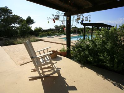 Photo for Luxury House in Fomentera with sunset pool
