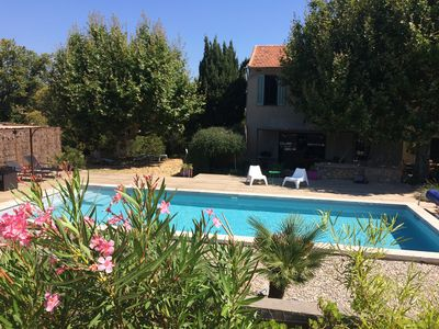 Photo for Provencal farmhouse, pool, near sea and village, between Toulon and Hyères