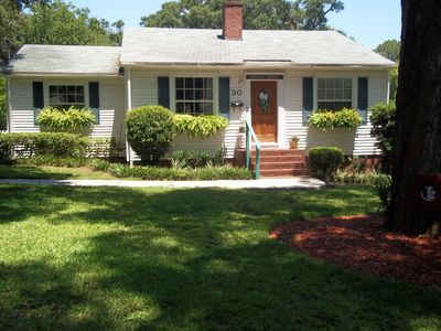 Photo for Comfy chic updated 1950's 3 bedroom cottage