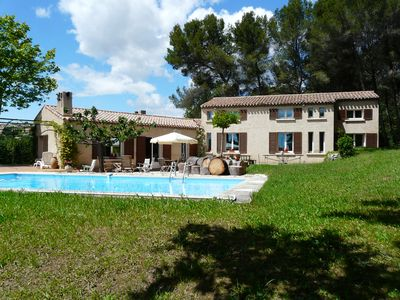 Photo for Pleasant holiday home with swimming pool Eguilles, in Provence