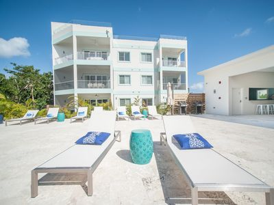 Photo for 4BR, Pool View Luxury, Seven Mile Beach (Sleep 10) Ocean view from rooftop.