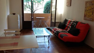 Photo for Two-roomed apartment for 4 people at 1. 5Km from the beach and the town center of Sainte Maxime