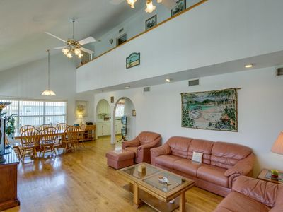 Photo for Spacious, two-level home w/ shared pool, deck - across the street from the beach