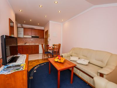 Photo for A1 apt with big balcony, sea view, parking and outside fireplace