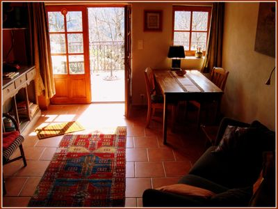 Photo for Small stone house. All comfort in the heart of the Cévennes Ardèchoises.