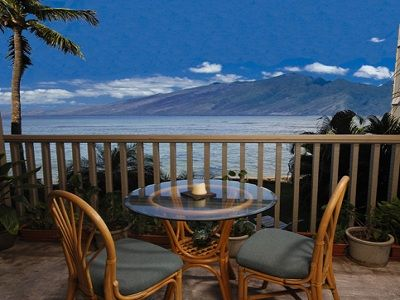 Enjoy the Ocean, Molokai and Lanai Island Views from your private lanai.