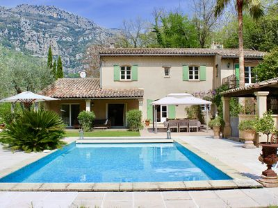 Photo for Beautiful villa with private swimming pool, guesthouse at 30min from Nice