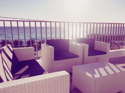 Photo for On the Beachside with Spacious Terrace and Sea View - Apartment Antonaci