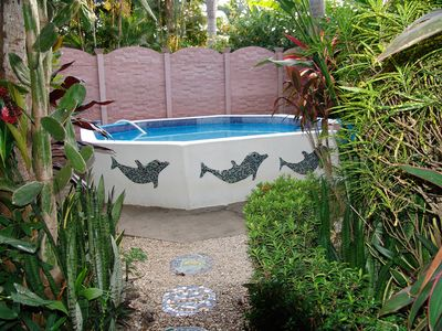 Photo for 2 Casitas 200 mt from beach,  Small Pool. Rancho ,Peaceful. Family&Pet