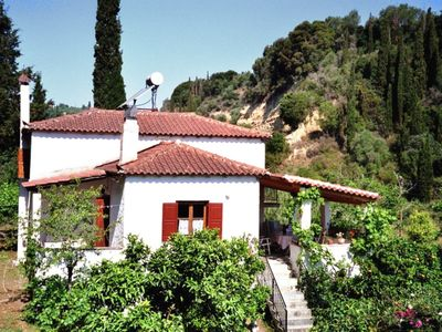 Photo for House near a sandy beach, surrounded by olive and fruit trees
