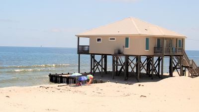 Photo for Newly Remodeled 4 Bedroom Gulf-front Beachhouse on Quiet West End of the Island