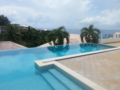 Photo for F2 Panoramic view sea, mountain and pool of the residence