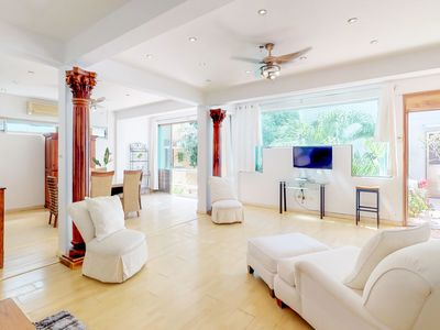 Photo for Sunny condo near beaches with private pool, full kitchen, & yard
